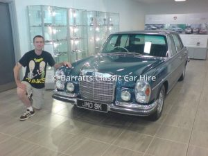 Steve Barratt with JMO 9K at Mercedes Benz World
